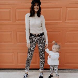 Rag & Bone Snow Leopard Boyfriend Jean, Sz 25